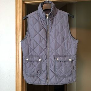 Thread & Supply Gray Quilted Puffer Vest